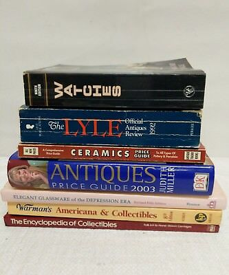Lot of 7 Antique Price Guide Books Collectible Guides Value Appraisal