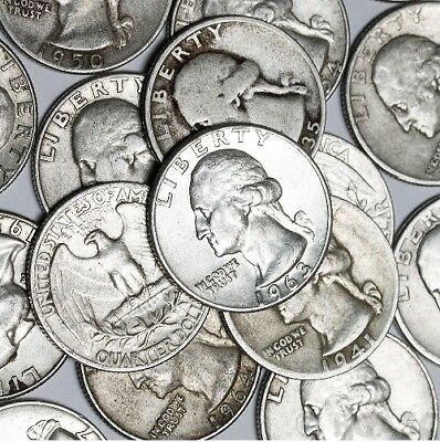 $2 Face Value Silver Washington Quarters | 90% Silver | Lot of 8