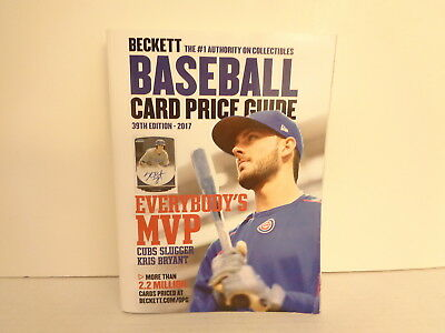 2017 Beckett 39th Édition Baseball Carte Prix Livre Guide