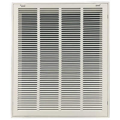 "GRAINGER APPROVED Filtered Return Air Grille,20x20"",White, 4JRT7"