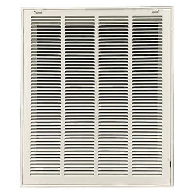 "GRAINGER APPROVED Filtered Return Air Grille,20x25"",White, 4JRT8"