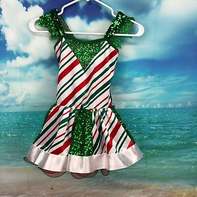 Curtain Call Costumes Christmas Dance Halloween Child Medium Dress Up Striped