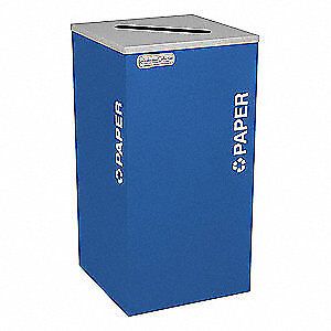 TOUGH GUY Recycling Container,Blue,24 gal., 5UJD0, Blue