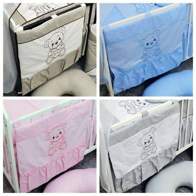 Nursery Baby Cot Tidy / Organiser for Crib Cot or Cot Bed - Happy Bear