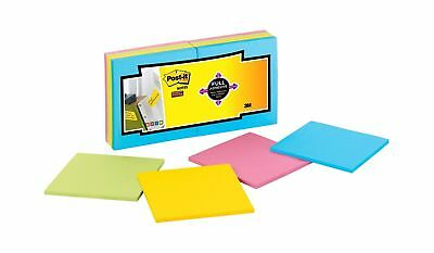 Post-it Super Sticky Full Adhesive Notes, 2x Sticking Power, 3 in x 3 in, Rio...