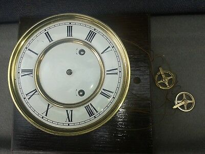 vienna clock movement two weight driven  7 inch parts spare