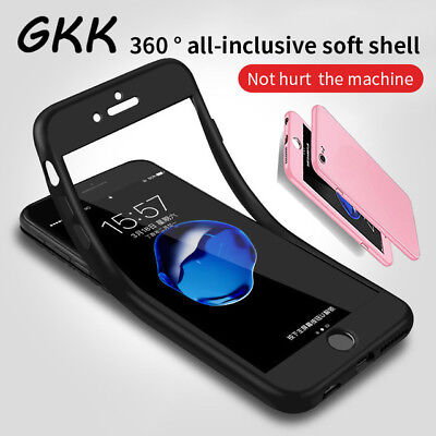 For iPhone 7 Case Silicone Shockproof 360° Gel Cover Hybrid Full Body Protection