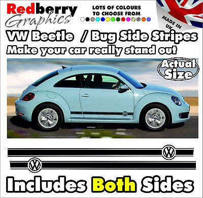 VW Beetle BUG Vinyl Side Stripes Graphics Volkswagen Decals All Age Stickers 001