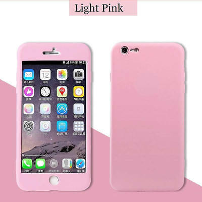 For iPhone 8 Plus Case Silicone Clear Shockproof 360° Cover Screen Protector New