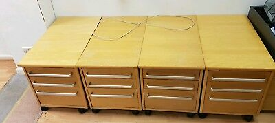 4x Office chest of drawers