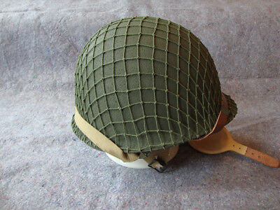 Early WWII US Army Airborne Paratrooper M2 D Bale Helmet