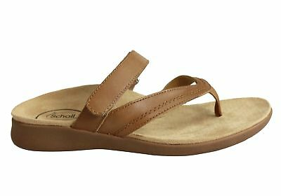 6bcc13a936c1 SCHOLL ORTHAHEEL FIASCO Womens Comfort Supportive Leather Thongs ...