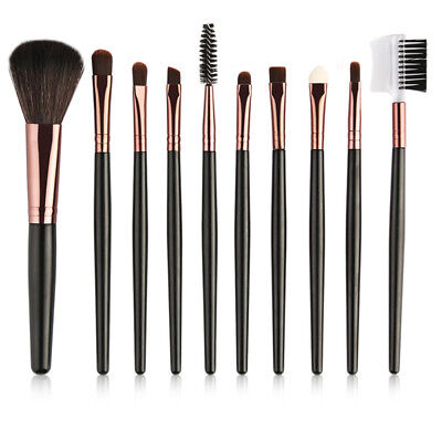 10 Pcs Makeup Brushes Set Eyebrow Eyeshadow Powder Brush Beauty Cosmetic Tools
