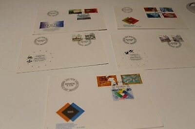 1984-85 Switzerland Fdc Coll X5 Covers