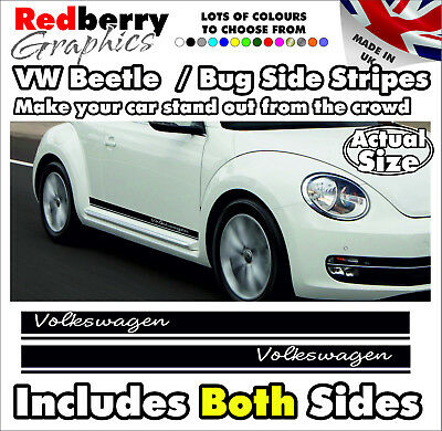 010 VW Beetle BUG Vinyl Side Stripes Graphics Volkswagen Decals All Age Stickers