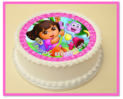 DORA THE EXPLORER 6 MIX EDIBLE STAND UP WAFER CAKE TOPPERS KIDS CARTOON SNIPER