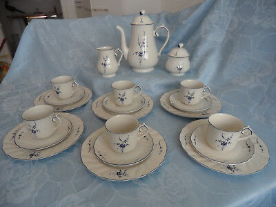 """Villeroy & Boch, Kaffeeservice 6 Pers.21tlg.""""Alt Luxemburg/Vieux Luxembourg"""""""