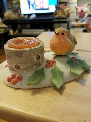 Marjolein Bastin Resin Robin tealight holder