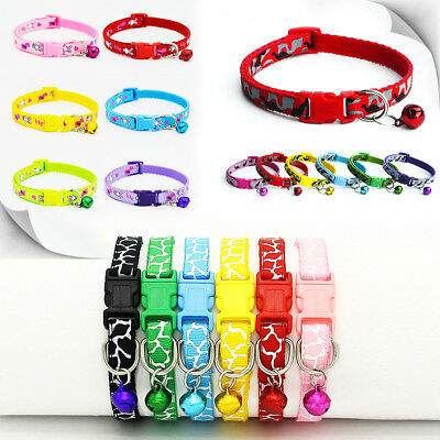 New Safety Reflective Cat Collar Breakaway with Bell for Dog Puppy Cat Kitten