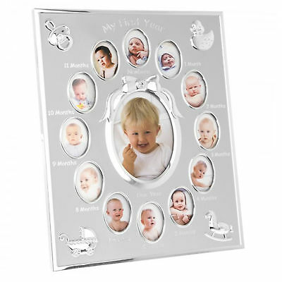 New Baby Gift - My First Year Photo Frame - Holds 13 Pictures