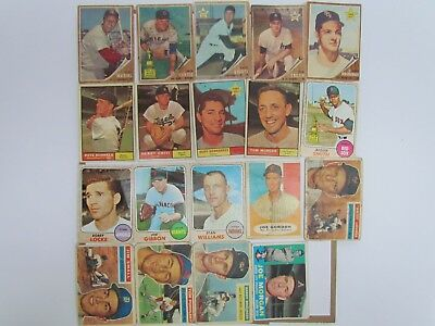 1950s-60s Topps Lot of 19 Baseball Card Stan Musial 1962 #50 Jim Small 1956 #207