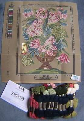 """Royal School Of Needlework Needlepoint/tapestry Tulip Fire Screen 20"""" X 14"""" New"""