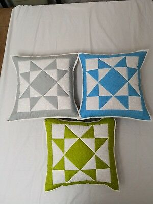 Precut Patchwork Quilt Cushion Kit - Diamond Star Quilting Easy Sewing Project