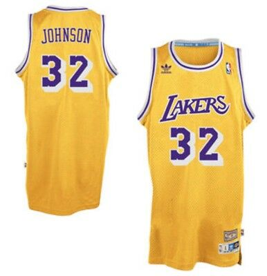 promo code 1793e 283ee LEBRON JAMES LAKERS Jersey Yellow Retro Throwback Showtime Hardwood Classic  23