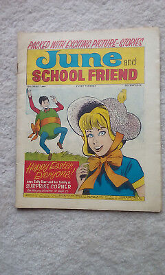 Rare June and School Friend Comic April 13 1968 (easter edition)