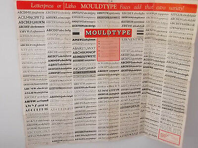 Mouldtype Foundry Font Poster (2 sided)