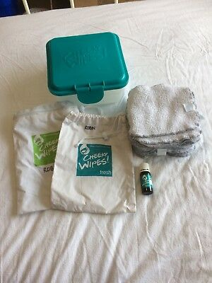 Cheeky Wipes Kit, 20 towel wipes , Box, Essential Oil, Fresh Bag And Mucky Bag
