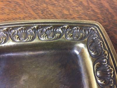 Vintage Brass SOAP HOLDER Decorative Ornate Jewelry Tray Trinket Change Dish