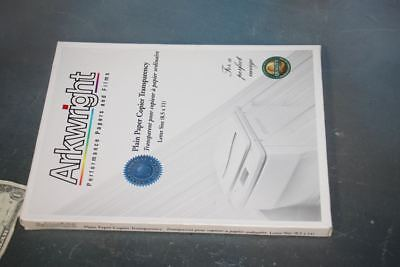 """NEW Box of 100 Overhead Transparency Film 8.5"""" 11"""" Arkwright Plain Paper Copiers"""