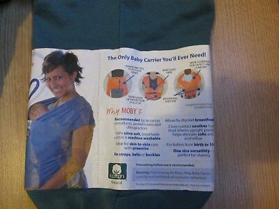 •Baby Carrier Moby Wrap – Teal colour, Soft Jersey Fabric
