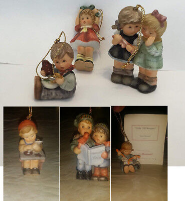 3 Berta Hummel Procelain Christmas Ornaments Collection the 19th, 20th and 21st