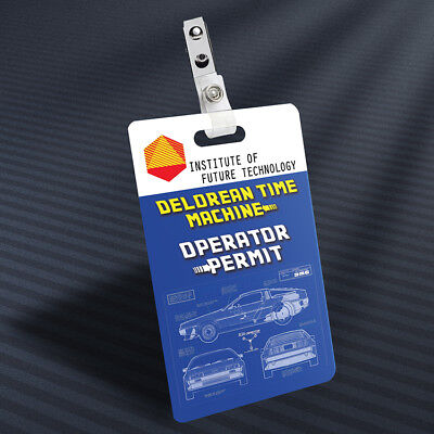 Back to the Future - Operator Permit Prop ID Badge