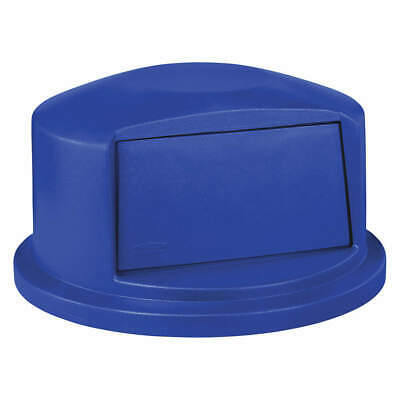 RUBBERMAID Trash Can Top,Dome,Swing Closure,Blue, 1829398, Blue