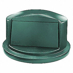 RUBBERMAID Trash Can Top,Dome,Swing Closure,Green, 1829397
