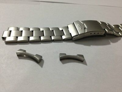 New Fortis 20Mm Stainless Steel Gents Watch Strap,matte Brushed Finish,flieger