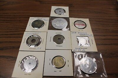 10 Assorted Tokens, Coins, & Medallions-Listed Below