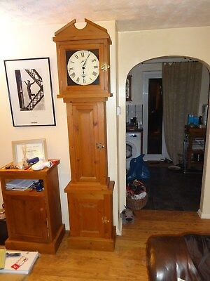 pine grandfather clock handmade