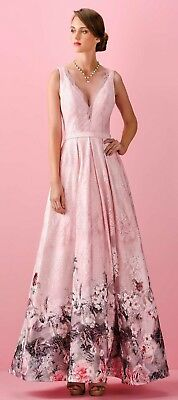 Abito Allure rosa e pizzo con fiori gonna 48 Elegant dress Elegantes Kleid Robe