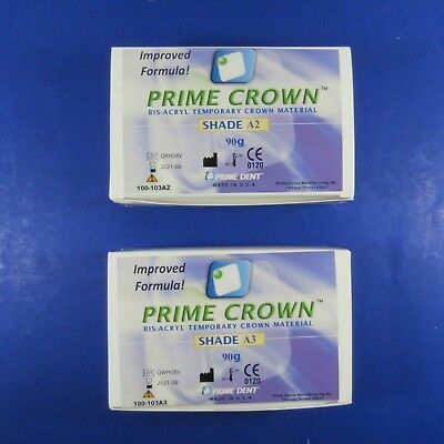 Dental Temporary Crown KIT/2 Shade A2 & A3 PRIME DENT IMPROVED FORMULA