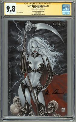 Lady Death Retribution #1 Mike Krome Commission Edition CGC 9.8 SS Signed Pulido