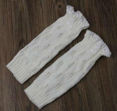 Girls Kid Baby Frilly Lace Leg Warmer Socks Footless Cover Loose Tights Stocking
