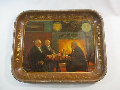 """Vtg. 1930's Indianapolis Brewing Company Progress Beer Metal Tray """"Hard To Find"""""""