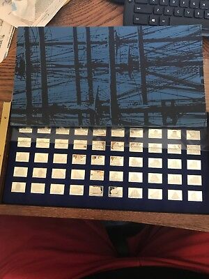 Franklin Mint The Great Sailing Ships of History Sterling Silver Ingots