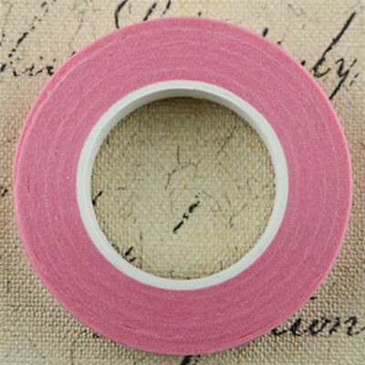 12 Pieces Wedding Florist Craft Stem Wrap Paper Tape Waterproof 30m Pink