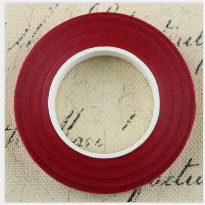 12 Pieces Wedding Florist Craft Stem Wrap Paper Tape Waterproof 30m Red