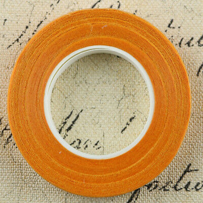 12 Pieces Wedding Florist Craft Stem Wrap Paper Tape Waterproof 30m Orange